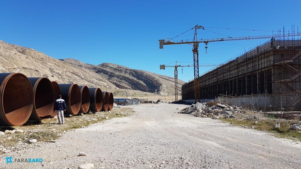 مراحل نهایی ساخت برج خنک کننده پتروشیمی گچساران